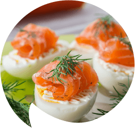 Cottage cheese filled eggs with salmon-shaped-opt