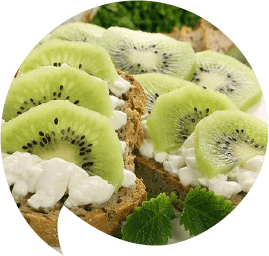 Kiwi and cottage cheese sandwich-shaped-opt